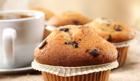 coffee and chocolate chunk muffins