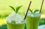 How to make a chia iced green tea