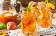 apricot peach tea cocktail
